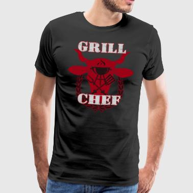 Grill Chef - alderen version - Herre premium T-shirt