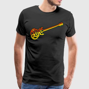 Rock n 'roll gitar - Premium T-skjorte for menn