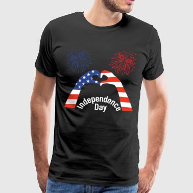 Independence Day, USA Independence Day - Herre premium T-shirt