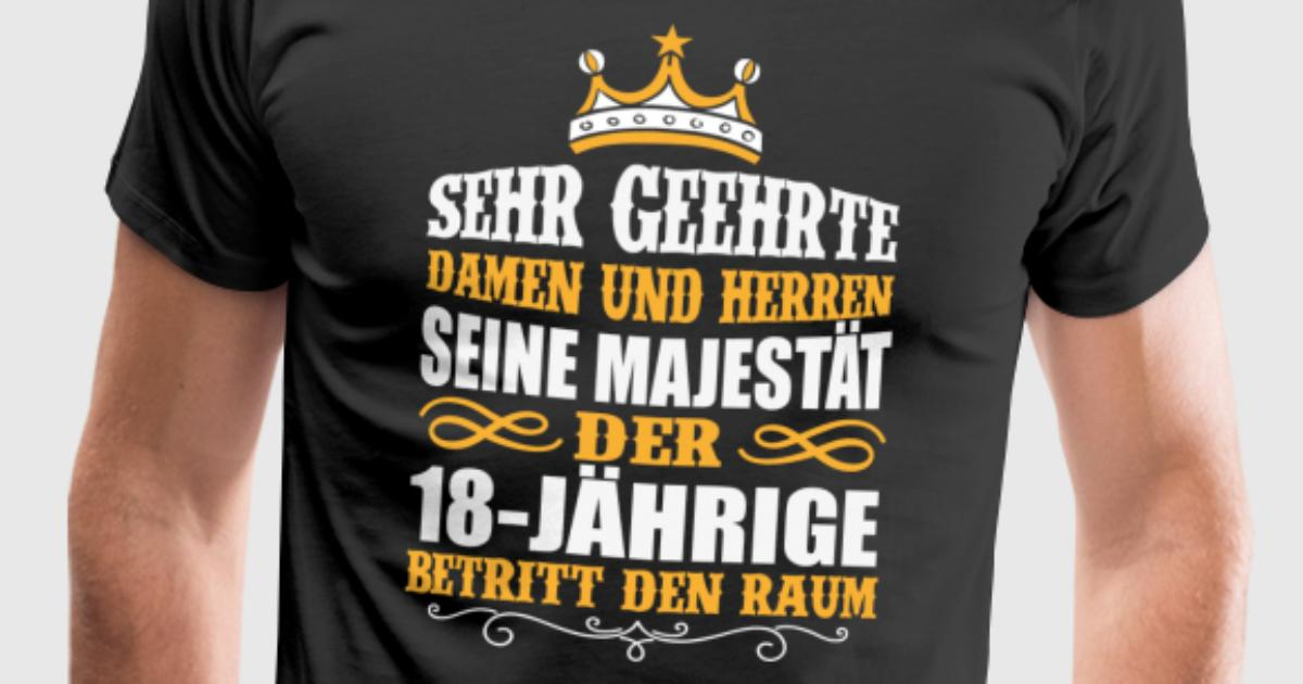 18 Jahre 18. Geburtstag Majestät Geschenk von | Spreadshirt