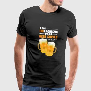 Bar Staff Funny Beer funny drink bar saying pils measure drink yes - Men's Premium T-Shirt