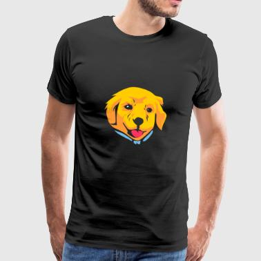 Golden Retriever Labrador Gaveidee - Premium T-skjorte for menn