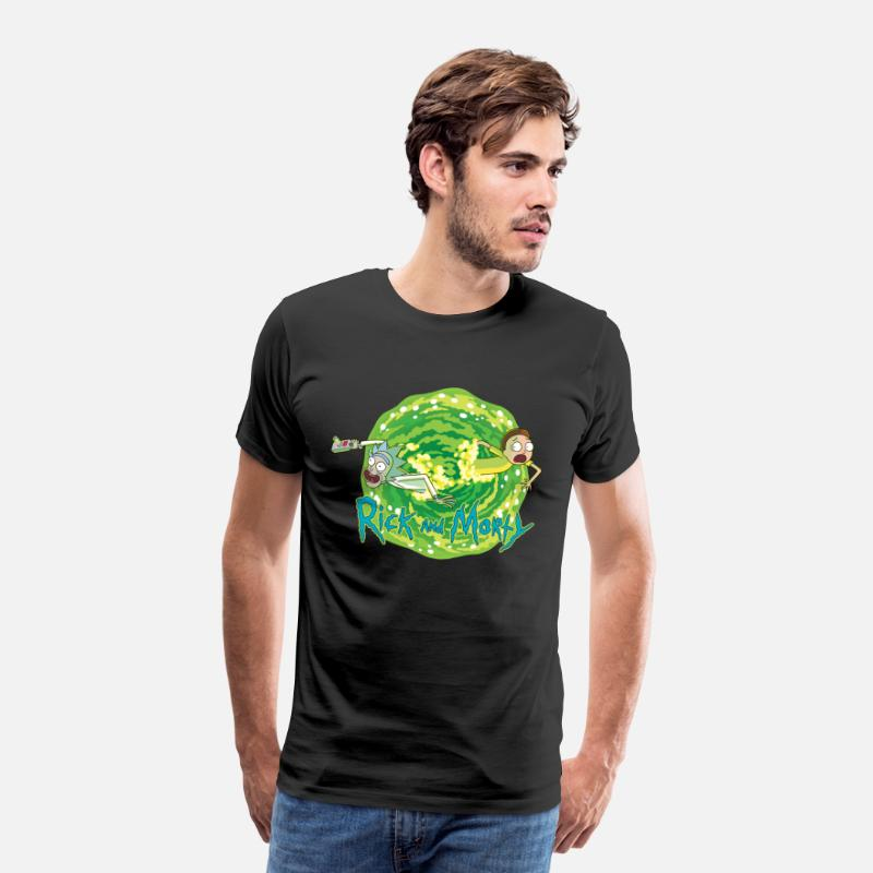 Officialbrands T-Shirts - Rick And Morty Multidimensionale Reisen - Männer Premium T-Shirt Schwarz