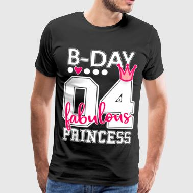 Number Crown 4th birthday number numeral 04 princesses pink - Men's Premium T-Shirt