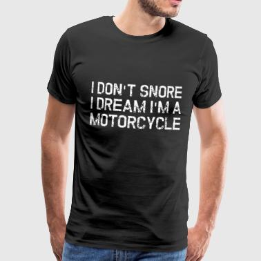 Snoring motorcycle - Men's Premium T-Shirt