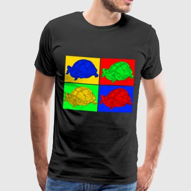 Tortues, pop art, coloré - T-shirt Premium Homme