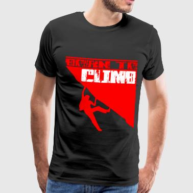 D'escalade Born To Climb Red - T-shirt Premium Homme