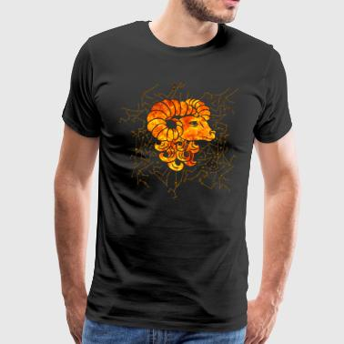 Aries Zodiac Sign Fire - Men's Premium T-Shirt