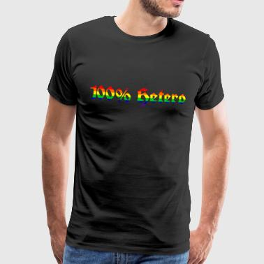 100% hetero - rainbow flag - Men's Premium T-Shirt