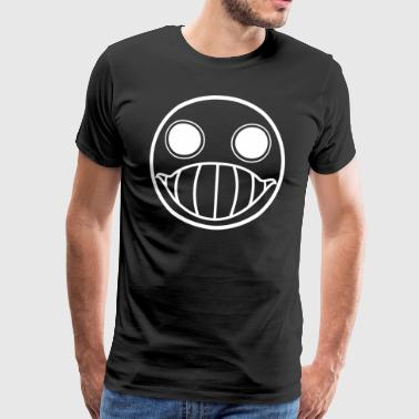 Crazy Cringe Smiley (white) - Men's Premium T-Shirt