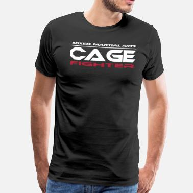 Cage Fight Mixed Martial Arts Cage - Männer Premium T-Shirt