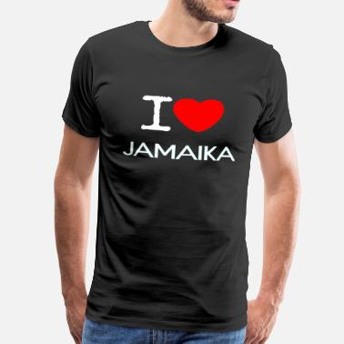 I Love Jamaica I LOVE JAMAICA - Men's Premium T-Shirt
