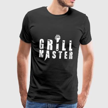 T-Shirt Grill Master BBQ BBQ Steak Gift - Men's Premium T-Shirt