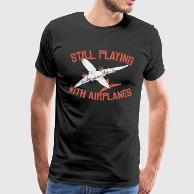Airplane airport games with aircraft gift - Men's Premium T-Shirt