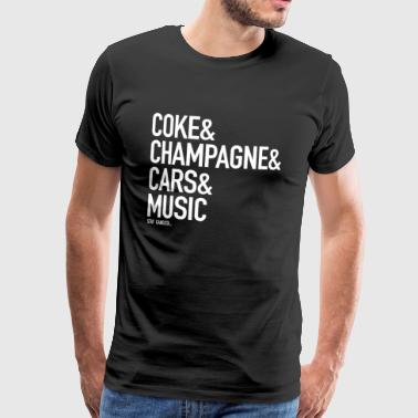 Nutten Style Champagne for life - Männer Premium T-Shirt