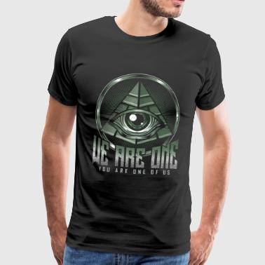 Pyramid Eye All-seeing Egypt Antique - Men's Premium T-Shirt