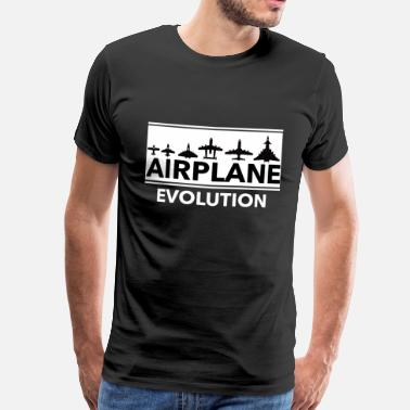 Avion évolution de l'avion - T-shirt Premium Homme
