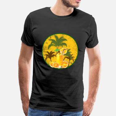 Sommerzeit Summer orange juice - Männer Premium T-Shirt