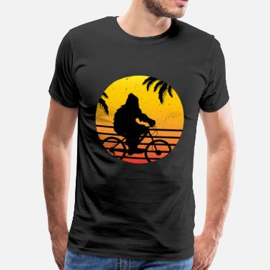 Bigfoot Bigfoot Rides Cykel Retro Roliga Yeti Pictures - Premium-T-shirt herr