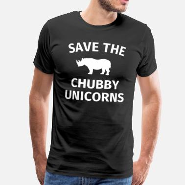 Funny Unicorn Save the chubby unicorns funny unicorn gift - Men's Premium T-Shirt