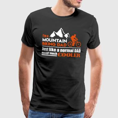 Mountainbiking far - Herre premium T-shirt