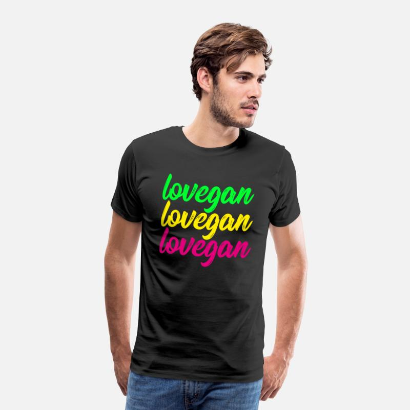 Love T-Shirts - lovegan - Men's Premium T-Shirt black