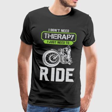 Motorcycle Therapy - Mannen Premium T-shirt