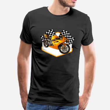 Bronze Hot Rod Racing Car / Gift Idea - Men's Premium T-Shirt
