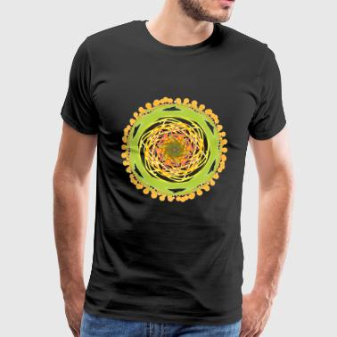Colorful Floral Green Design Art Gift - Men's Premium T-Shirt