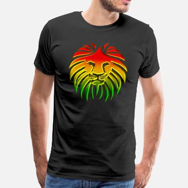 Jah Like a Lion, Reggae, Rasta Revolution, Jah Roots - Men's Premium T-Shirt