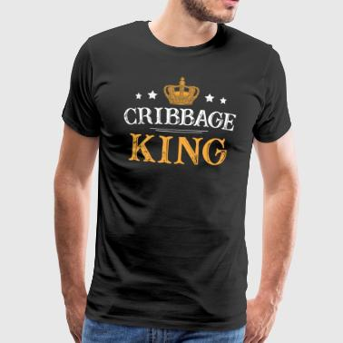 Crib Cribbage King - T-shirt Premium Homme