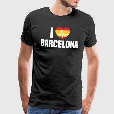 I love Barcelona BCN Spain Barcelona holidays - Men's Premium T-Shirt