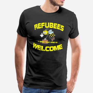 Miljø Refubees Velkommen Rescue The Bees Conservation - Herre premium T-shirt