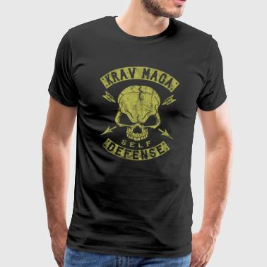 Krav Maga Self Defense Skull - Männer Premium T-Shirt