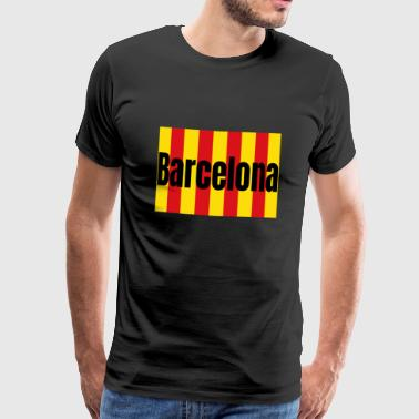 Catalan de Barcelone fan de Catalogne - T-shirt Premium Homme