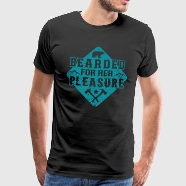 Super Pige Bearder For Her Pleasure - Herre premium T-shirt