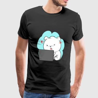 Nerdy polar bear - Men's Premium T-Shirt