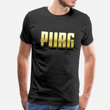 Pubg PUBG Gold - Playerunknowns Battlegrounds - Men's Premium T-Shirt