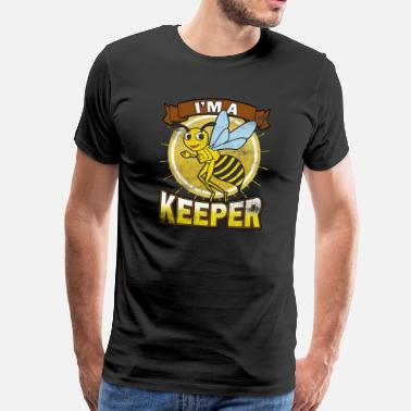 Honey Bee Beekeeper Vintage I'm a Beekeeper Gift - Men's Premium T-Shirt