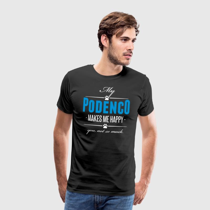 My Podenco makes me happy - Men's Premium T-Shirt