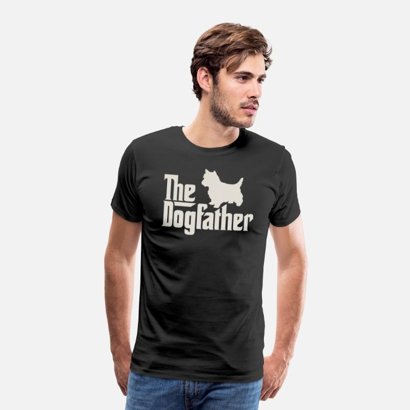 Terrier Camisetas - El Dogfather - West Highland White Terrier - Camiseta premium hombre negro