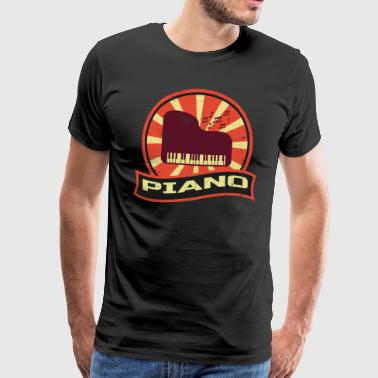 Finger Symbol Piano Propaganda | Piano musical instrument pianist - Men's Premium T-Shirt