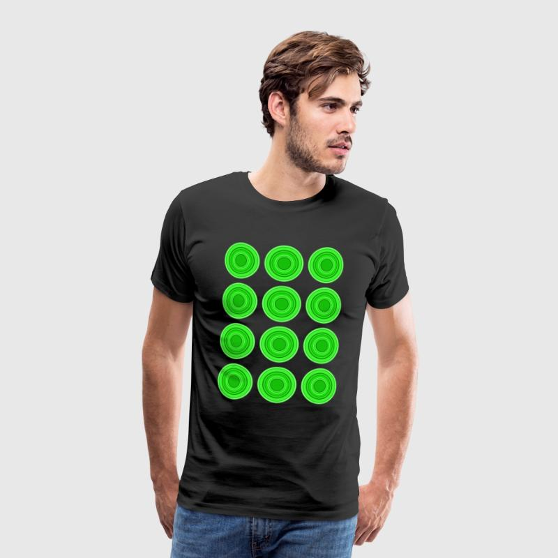 Retro Circles, green - Men's Premium T-Shirt