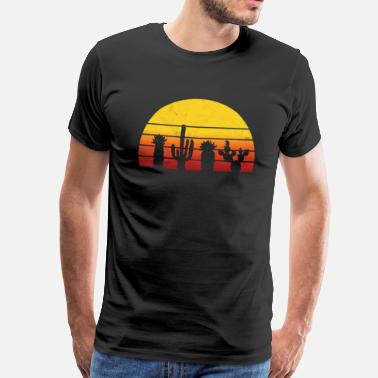 Sierra Nevada Desert gift cactus sunset vacation - Men's Premium T-Shirt