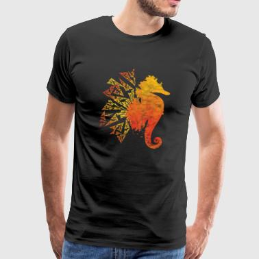 Sea horse animal diving coral reef gift sea - Men's Premium T-Shirt