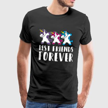 Best Friends Best Friends Forever Unicorn Squad Gift Idea - Men's Premium T-Shirt