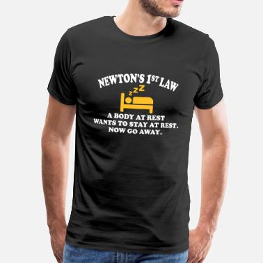 Funny Atheist newton's 1st law - Men's Premium T-Shirt