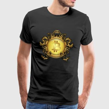 Bitcoin label # 5 - Mannen Premium T-shirt