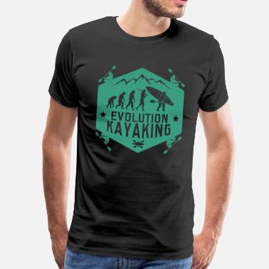 Evolution Kajak Evolution Kajak - Männer Premium T-Shirt
