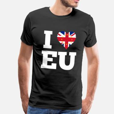 I Love Scotland I love EU UK Flag Gift Pro Europe London - Men's Premium T-Shirt